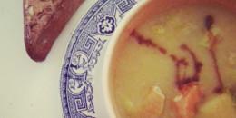 Soupe de légumes mi-moulinée
